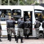 Na manhã desta terça-feira, policiais militares reuniram-se no Araújo Vianna para ouvir discurso de despedida do governador Foto: Diego Vara / Agencia RBS