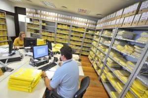 Central instalada no Tribunal de Justiça acumula processos que aguardam liberação de recursos Foto: Lauro Alves / Agencia RBS