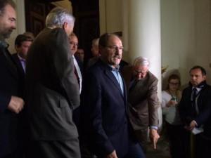 Governador se pronunciou por menos de 5 minutos Foto: Juliana Bublitz  / Agência RBS